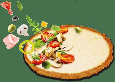 Pizza pollo base de pizza de filete de pollo