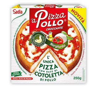Pizza pollo estilo margarita