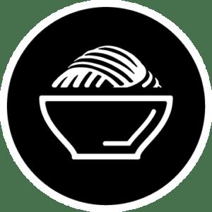 Pasta no rellena icono bormarket