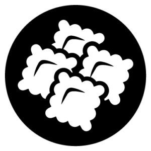 Pasta rellena blanco icono bormarket