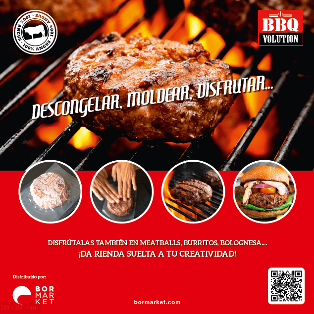 Hamburguesa gourmet angus bbq volution