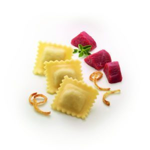 Tipos de pasta: Ravioli relleno de Carne