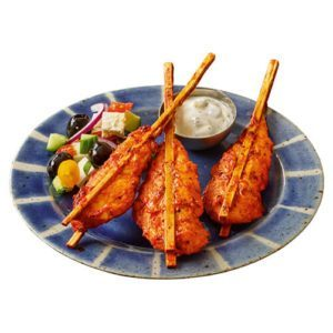 brochetas de pollo al estilo mediterráneo