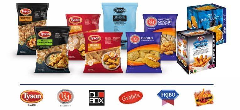 productos congelados tyson foods