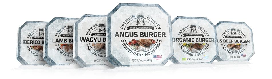 Gama hamburguesas premium The Frozen Butcher